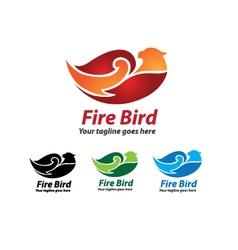 Fire Bird Logo Design Fire Bird Icon vector image