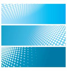halftone banners vector image vector image