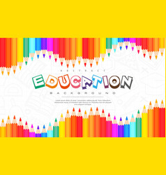 Abstract education background back to school vector