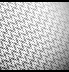 Abstract monochrome pattern with wavy zigzag vector