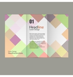 abstract square pattern brochure vector image