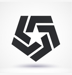 abstract star logo vector image
