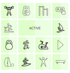 Active icons vector
