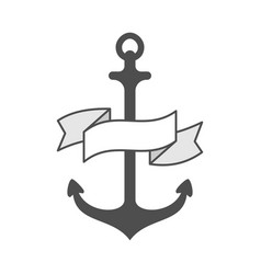 Anchor single logo icon separate isolated vector