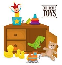 Baby toys design vector