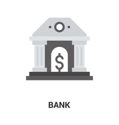 Bank icon concept vector