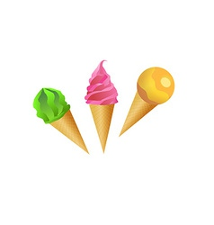 Beautiful Icecream set vector