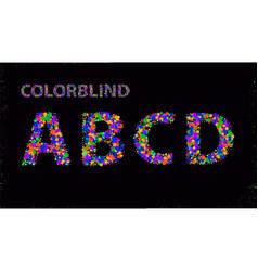 big set colorblind style font fresh trendy vector image