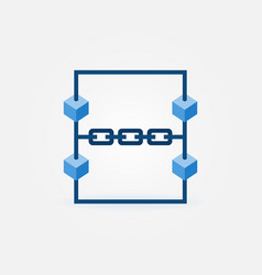Blockchain technology icon - block chain vector