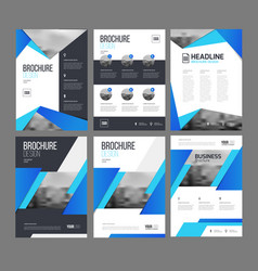 Brochure layot set vector
