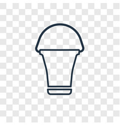 bucket concept linear icon isolated on vector image