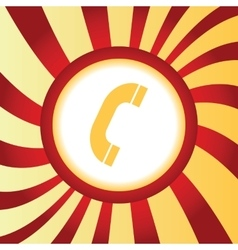 Call abstract icon vector