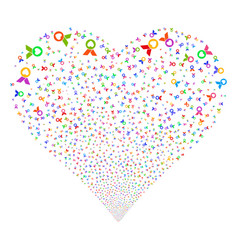 Care award fireworks heart vector
