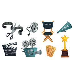 cartoon film studio cinema video camera movie vector image