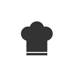 chef hat icon in flat style cooker cap on white vector image