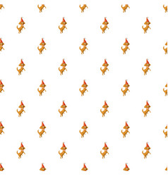 circus dog pattern vector image