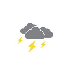 cloudy weather icon design templateve isolated vector image