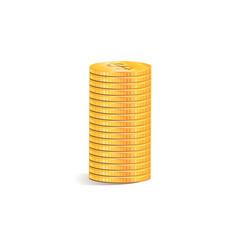 coin icon a stack gold coins as a graph of vector image