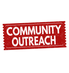 community outreach grunge rubber stamp vector image