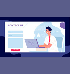 Contact us template corporate service page vector