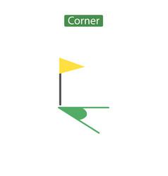 Corner flag icon flat vector
