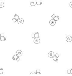 corruption money bag pattern seamless vector image