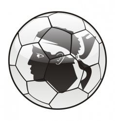 Corsica flag on soccer ball vector