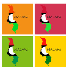 Detailed malawi map vector