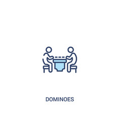 Dominoes concept 2 colored icon simple line vector