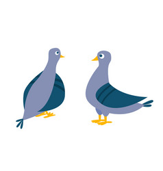 dove bird pigeon isolated cartoon vector image