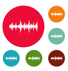 equalizer tune icons circle set vector image