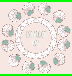 Escargot decoration vector