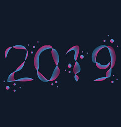fantasy fluid 2019 new year vector image