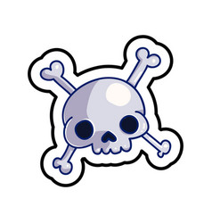 fashion patch skull badge vector image