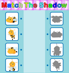 Find the correct shadow of the bee vector