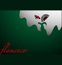 flamenco dancer template sexy woman silhouette vector image
