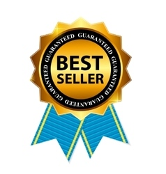 Gold Label Best Seller vector image