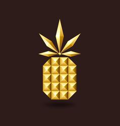 golden glitter jewelry pineapple vector image