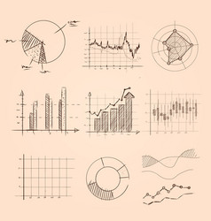 graphic and chart collection hand drawing sketch vector image