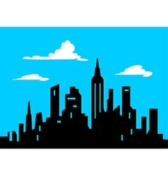Graphic Style Cartoon City Skyline vector image vector image