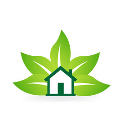 green natural nature leaf icon vector image