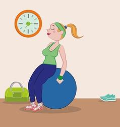 Gym design vector image