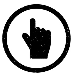Index Finger Up Direction Icon Rubber Stamp vector