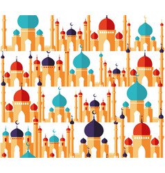 islamic beautiful design template arabic vector image