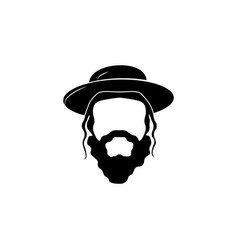 Jew the head of a jew black on white background vector