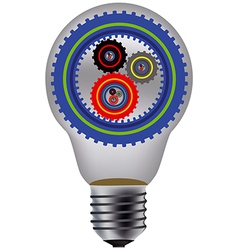 lamp and gear vector image