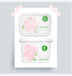 Laundry detergent vector