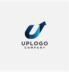 Letter u for up logo icon template vector