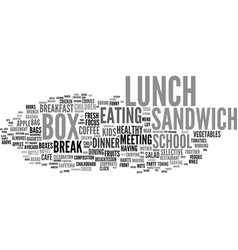 Lunch word cloud concept vector