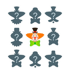 match correct clown shadow puzzle game vector image